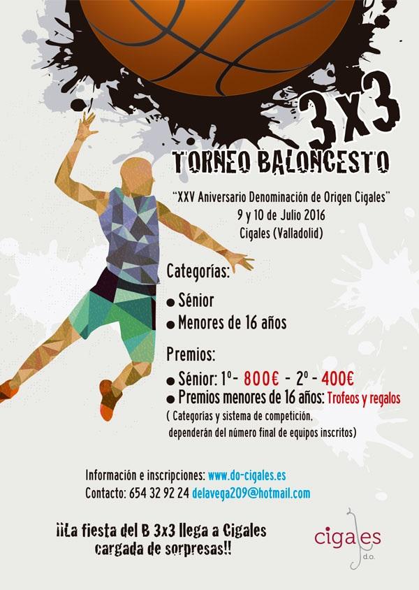 El Torneo de Baloncesto 3X3 DO Cigales reúne este fin de semana a 25 equipos