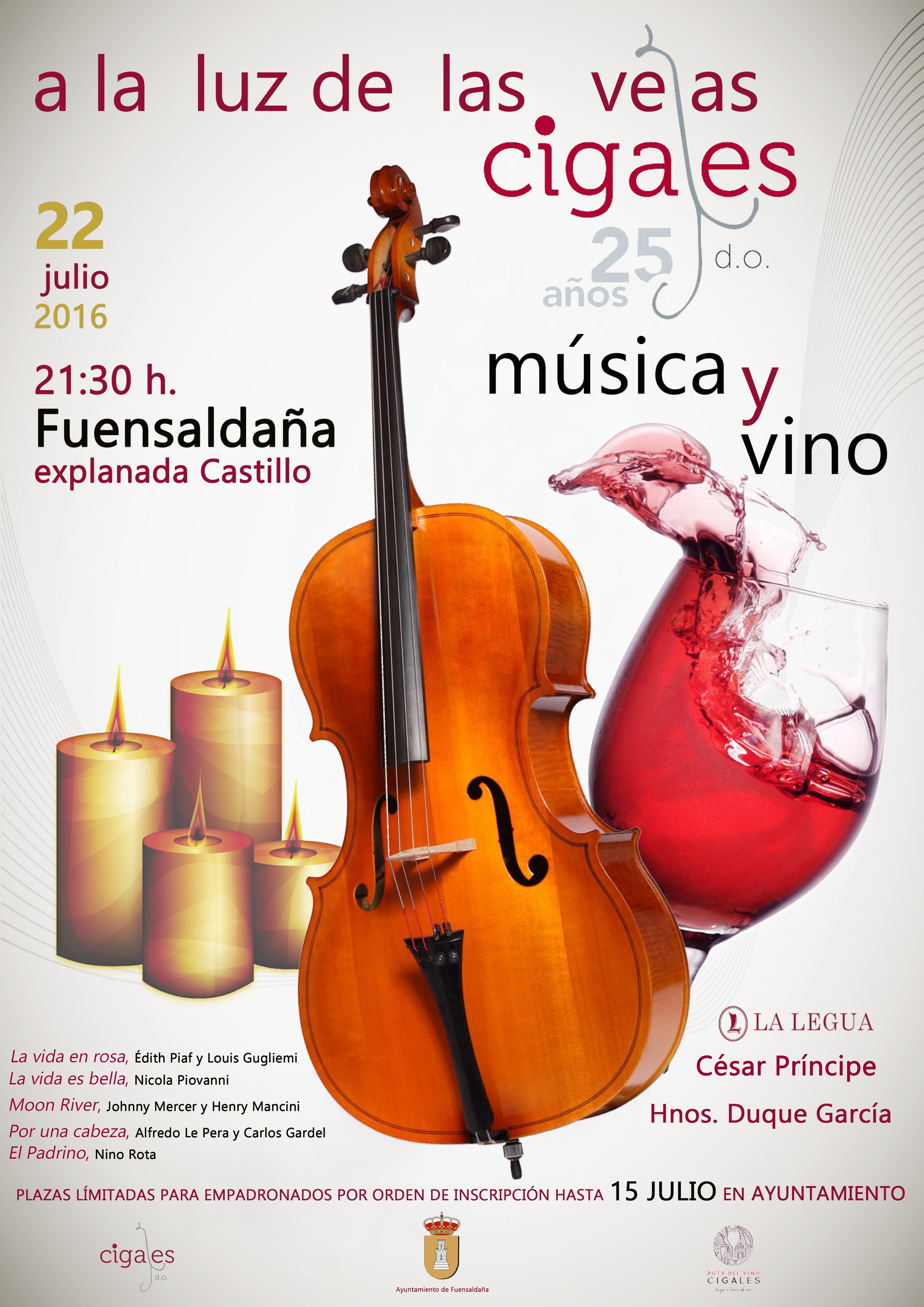 """La DO Cigales y el Ayuntamiento de Fuensaldaña organizan """"Música y Vino a la luz de las velas"""""""