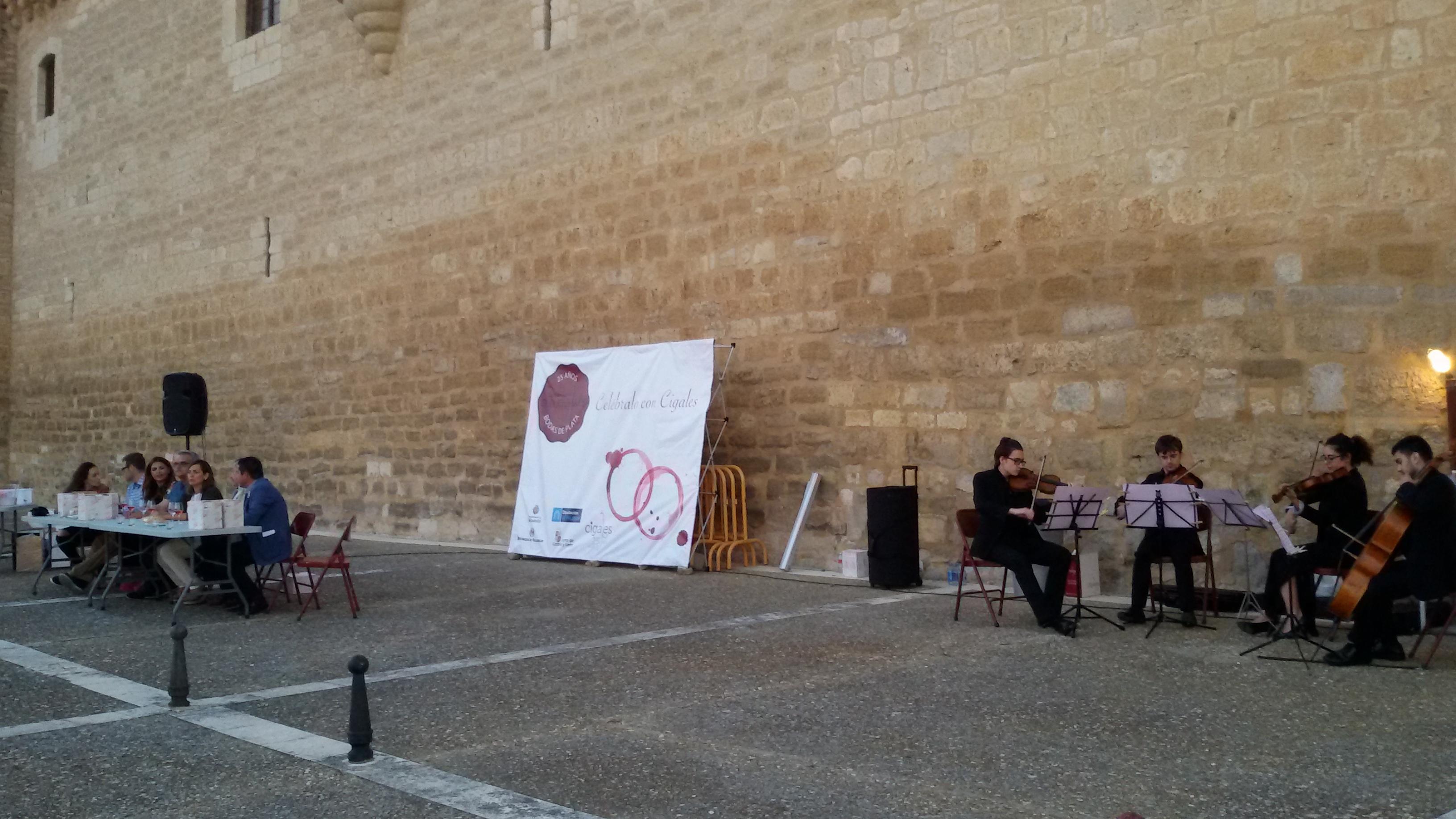 Los vinos de Cigales lucieron en Fuensaldaña acompañados por música de cuerda