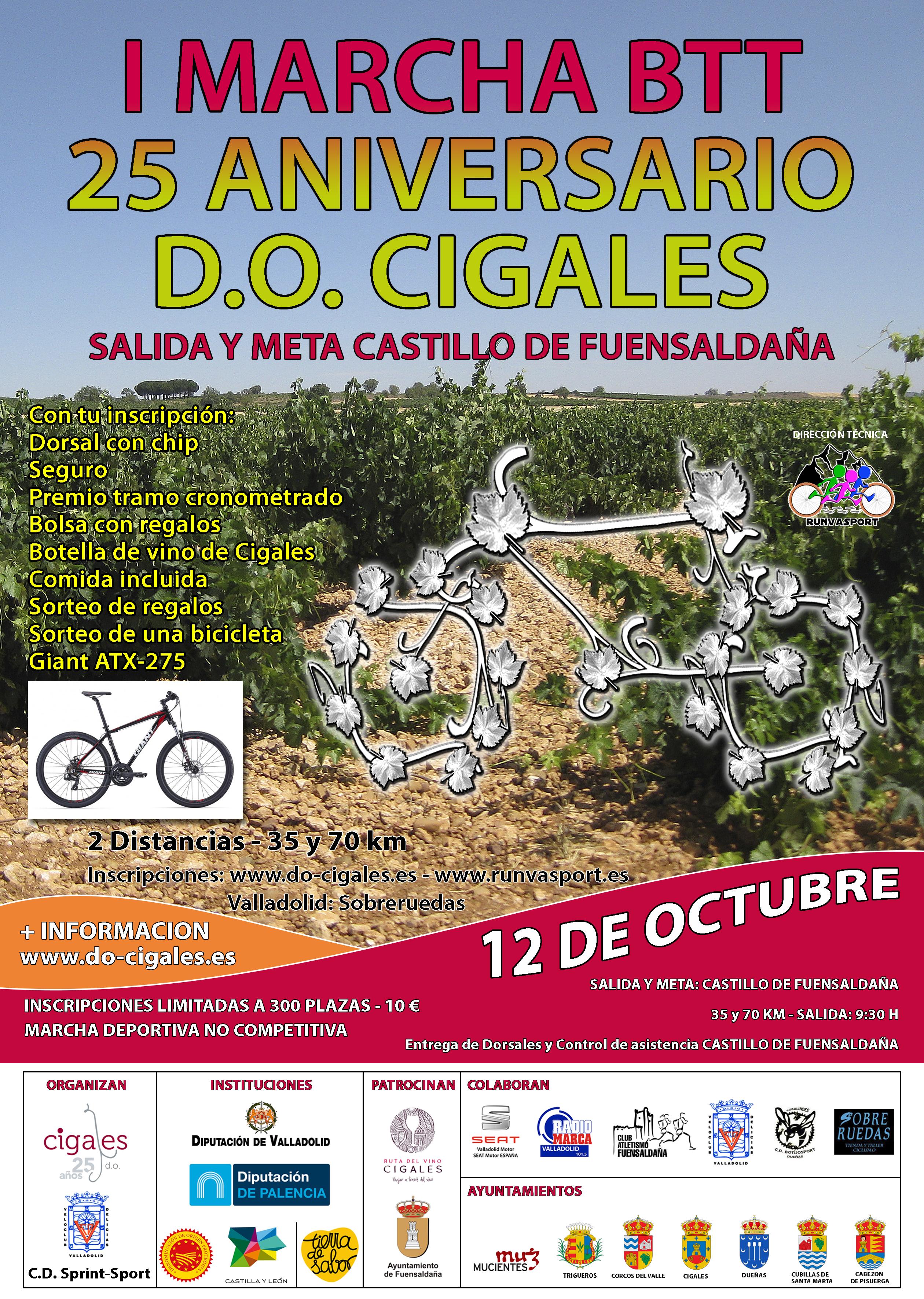La DO Cigales estrena su primera ruta BTT el 12 de octubre