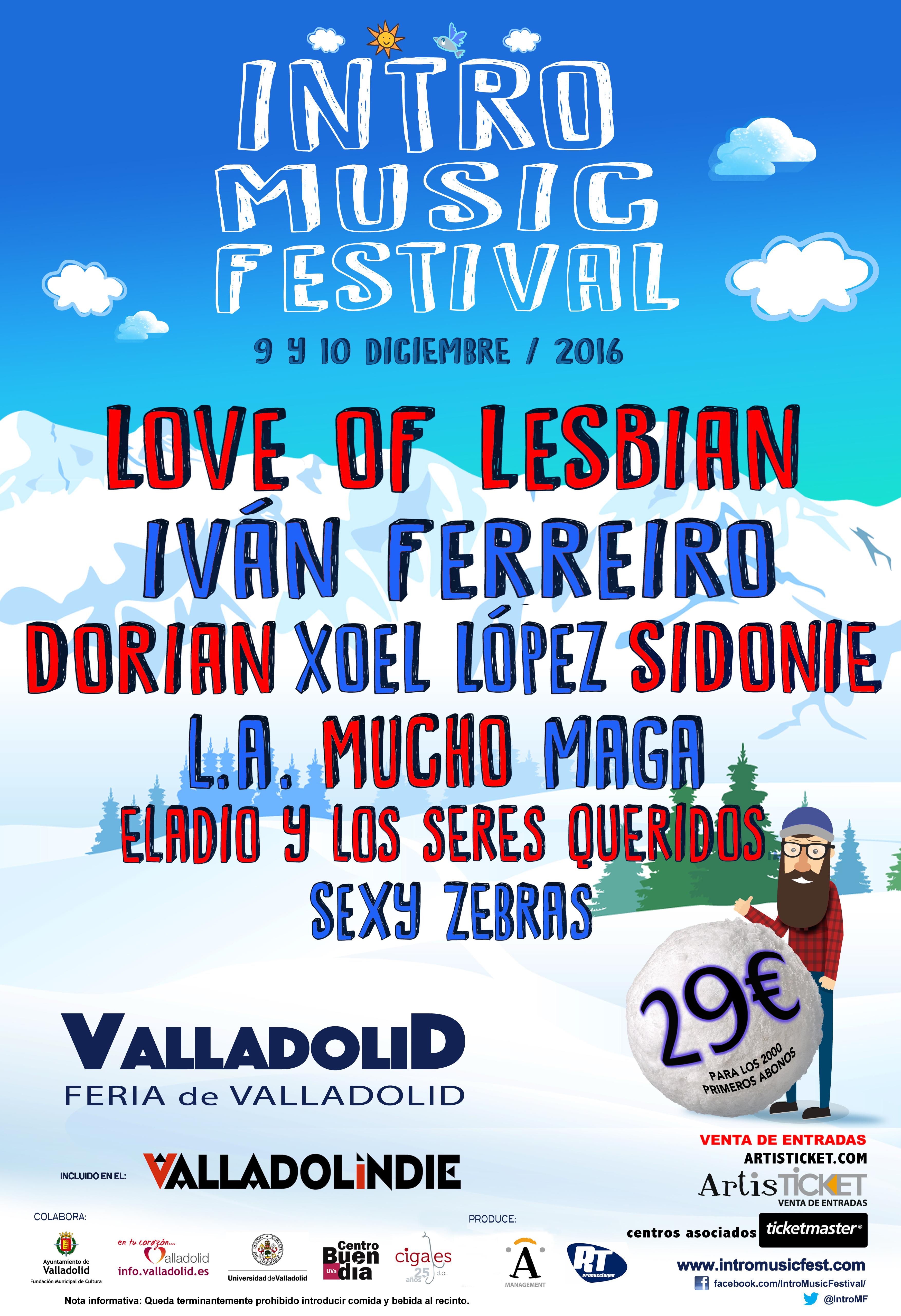 CIGALES CON VALLADOLINDIE-EL FESTIVAL MÁS LARGO DEL MUNDO e INTRO MUSIC FESTIVAL