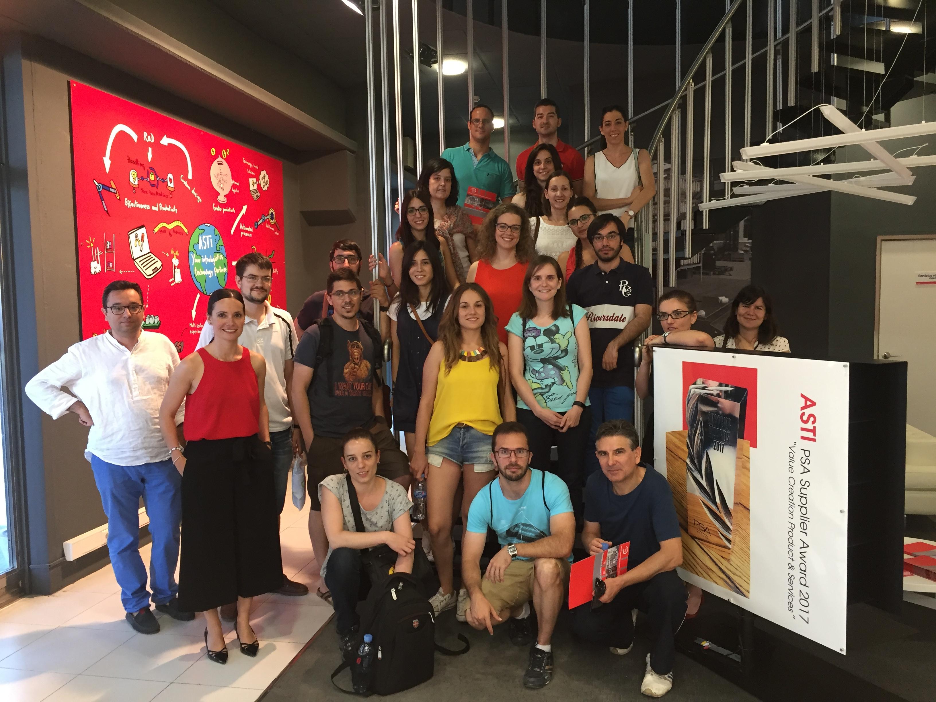 Alumnos del Programa de Formación de Gestores de I+D+i (Gestidi) visitan ASTI Technologies Group